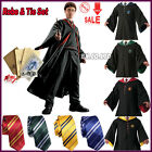 Harry Potter Gryffindor/Slytherin/Hufflepuff/Ravenclaw Robe/Tie/Scarf/Badge/Wand