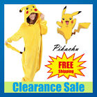 UK LOCAL Anime Pikachu Pokemon Onesie Cosplay Costume Kigurumi Pajamas Sleepwear