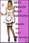 LADIES FANCY DRESS SEXY FRENCH MAID COSTUME ooh la la !