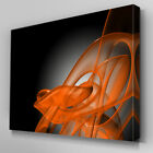 AB036 Orange Glow Swirl Canvas Wall Art Ready to Hang Picture Print Large