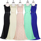 Mermaid Lace Long Formal Prom Bridesmaid Cocktail Party Evening Gown Dress Plus