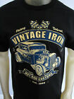Vintage Iron Hot Rod racing Muscle car mechanic gear head tee shirt men's