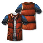 Adult Movie Back To The Future Marty Mcfly Vest Costume Sublimation T-shirt Tee