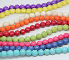 """16"""" Howlite Turquoise Loose Beads Round 6mm 8mm 10mm 9 COLORS"""