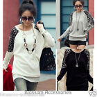 WF17 Celebrity Leopard Batwing Long Sleeve Casual Blouse Cotton T-Shirt Top