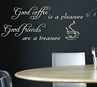 AUTOCOLLANT MURAL CITATION GOOD CAFÉ CUISINE ART / / / N72