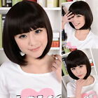 6colorBOB Head Straight Bang cosplay Costume Party Short Straight Full Wigs hair