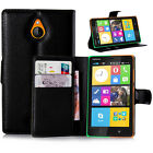Luxury Best Leather Wallet Case Stand Card Holder For Nokia X2 Dual SIM