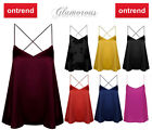 Glamorous Cami Top - CK0134 - Burgundy - Gold - Red - All Sizes - New
