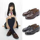Women Japanese School Student Uniform Soft Leather Flat Low Heel Shoes Cosplay