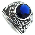 Montana Blue US Air Force Military .925 Sterling Silver Mens Ring