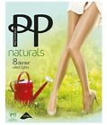 Ladies Pretty Polly 8 Denier Smooth Knit Everyday Cream Natural Oiled Brown Oil