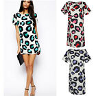 Women's Sexy Dresses Leopard Summer Casual Evening Cocktail Party Mini Dress lot