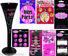 Hen Night Party Table ware and party decoration glasses badge cards accessories