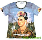 Frida Mexican Surreal Self Portrait Arte Camiseta T Shirt Top FINE ART PRINT TOP