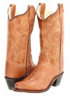 YOUTH OLD WEST SNIP TOE TAN COWBOY/COWGIRL BOOTS GENUINE ...