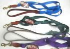 """NWT Weaver 4 foot x 3/4"""" Wide Dog Leash Lead Nylon with Leather Ends, Brass"""