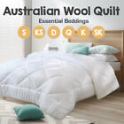 All Size 100% Luxury 500/700GSM Super Warm Australian Wool Quilt/Duvet