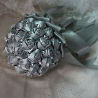 Satin Rose Crystal  Artificial Flower Bouquet Wedding Decoration Handmade Custom