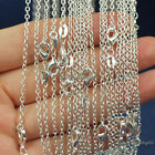 """Wholesale lots 5pcs 2mm 925 Sterling Silver Plated """"O"""" Chain Necklace 16-30 inch"""