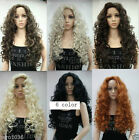"New fashion sexy full wig 28"" long curly synthetic hair women' wigs 6 color  @:5"