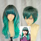 2 Style Harajuku 70cm Wavy Peacock Gradient Gothic Lolita Cosplay Party Wigs @:8