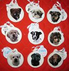 Ceramic Puppy Ornament dog lover breed pet Christmas multi-color round mom dad