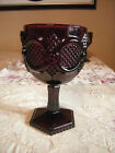 "VINTAGE AVON 6"" PEDESTAL GOBLET WATER/ WINE RUBY RED 1876 CAPE COD COLLECTION"