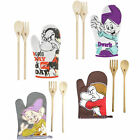 Disney: Snow White Oven Glove & Apron Kitchen Set - New + Official Grumpy/Dopey