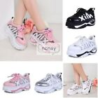 Multi Color Platform Creeper Womens Lace Up Mesh Sneakers Trainers Shoes NC0038