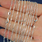 """Wholesale lots 10pcs 2mm 925 Sterling Silver Plated Wave Chain Necklace 16""""-30"""" image"""