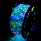 50/100/150FT LED Rope Light 2 Wire 110V Outdoor Xmas Decorative Party Lighting
