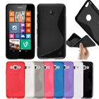 New S-Line Soft Silicon Gel Case For Nokia Lumia 735 & 730 + Free Screen Guard