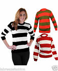 New Ladies Girls Stripe Knitted Jumpers Top
