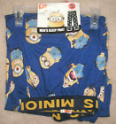 "NEW MENS ""DESPICABLE ME MINIONS BLUE"" COTTON LOUNGE SLEEP PAJAMA PANT, Many Sz"