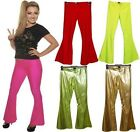 NEON FLARED TROUSERS 70'S 80'S FANCY DRESS sizes 8-14 PARTY