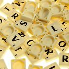 SCRABBLE TILES IVORY PLASTIC & WOODEN -BLACK LETTERS CHOOSE 100 - 1000 FULL SETS