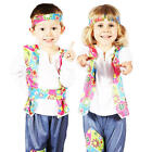 60s Hippy Ages 2-3 Toddler Kids Fancy Dress 1960s Hippie Girls Boys Costumes
