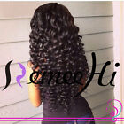 "14""~22"" Full/ Front Lace Wigs 100% Brazilian Remy Human Hair Spanish Kinky Curl"