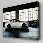 Cars079 White Bentley Office Room Canvas Art Ready to Hang Picture Print