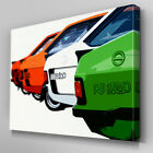 Cars393 Four Ford Escort Models Canvas Art Ready to Hang Picture Print