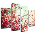 MFL101 Cherry Blossom Floral Canvas Wall Art Multi Panel Split Picture Print