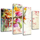 MFL406 Floral Wall Painting Canvas Wall Art Multi Panel Split Picture Print