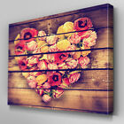 FL403 Vintage Flower In Fence Canvas Wall Art Multi Panel Split Picture Print