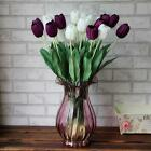 10Pcs Tulip Party Home Wedding Silk Flowers Decor Bouquet Bud Craft Single XW