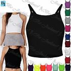 Womens Ladies Sleeveless Strappy Camisole Bandeau Boobtube Bralet Cropped Tops