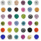 Hot 10mm Clay Disco Round Crystal Glass Spacer Beads For  Bracelet Making 10 Pcs