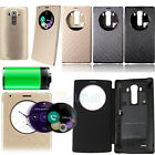 New Quick Circle View Window NFC Wireless QI Charging Smart Flip Case For LG G4