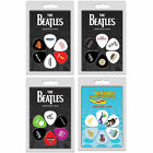 Set Of 6 Guitar & Bass Plectrums / Picks - New & Official In Pack The Beatles