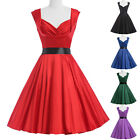 Clearance>> Vintage Style 50's Swing Housewife Wiggle Dress Plus Size